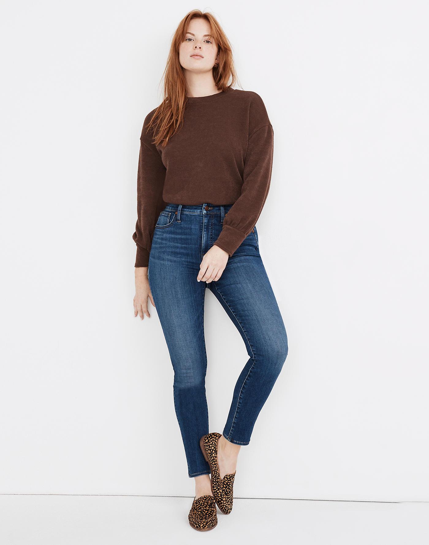 Madewell Curvy High-Rise Skinny Jeans in Bradshaw Wash