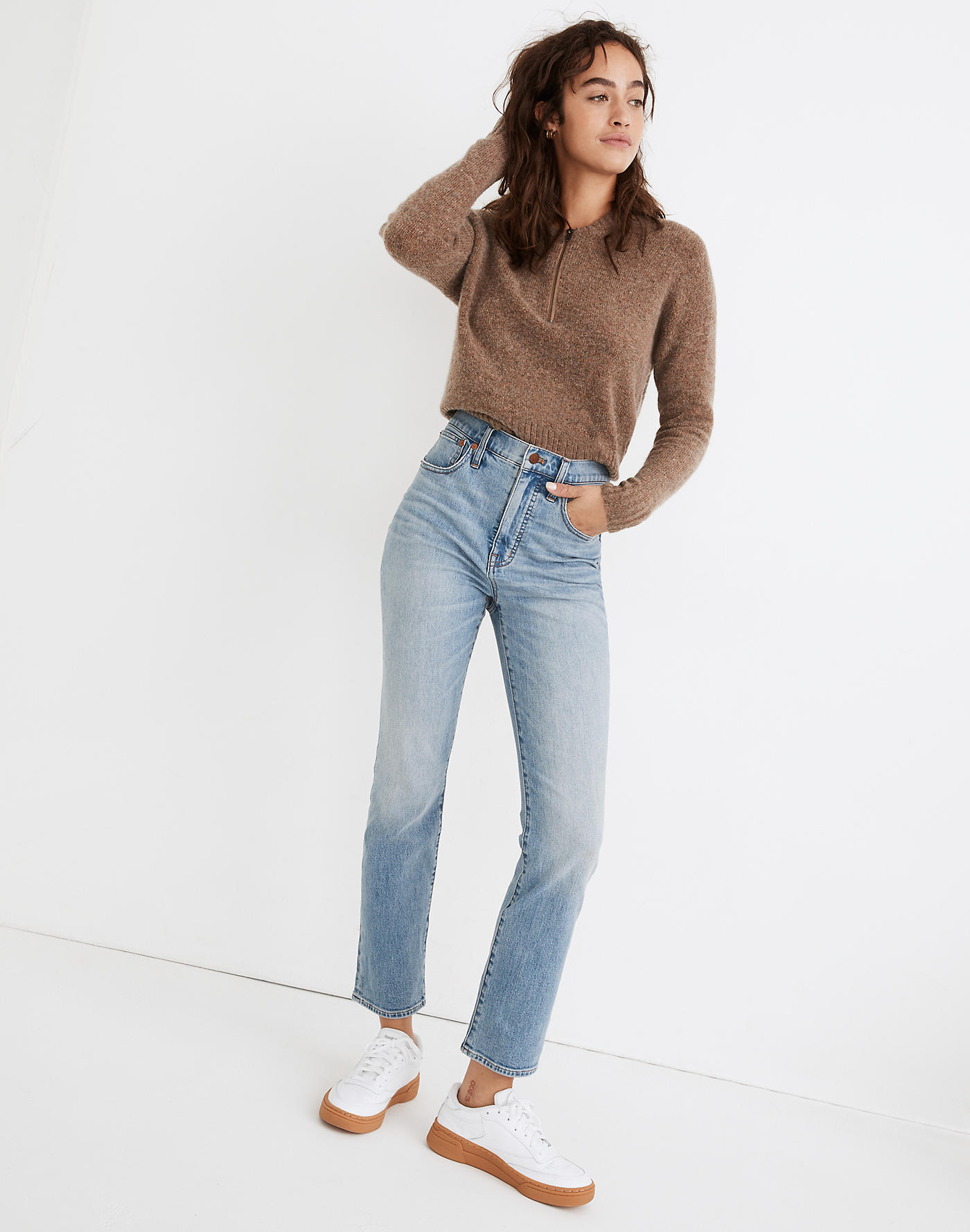 Madewell Slim Demi-Boot Jeans in Denis Wash