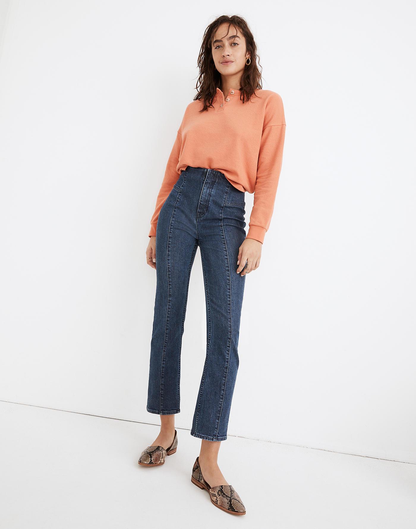 Madewell Slim Demi-Boot Jeans in Reyes Wash: Seamed TENCEL Denim Edition