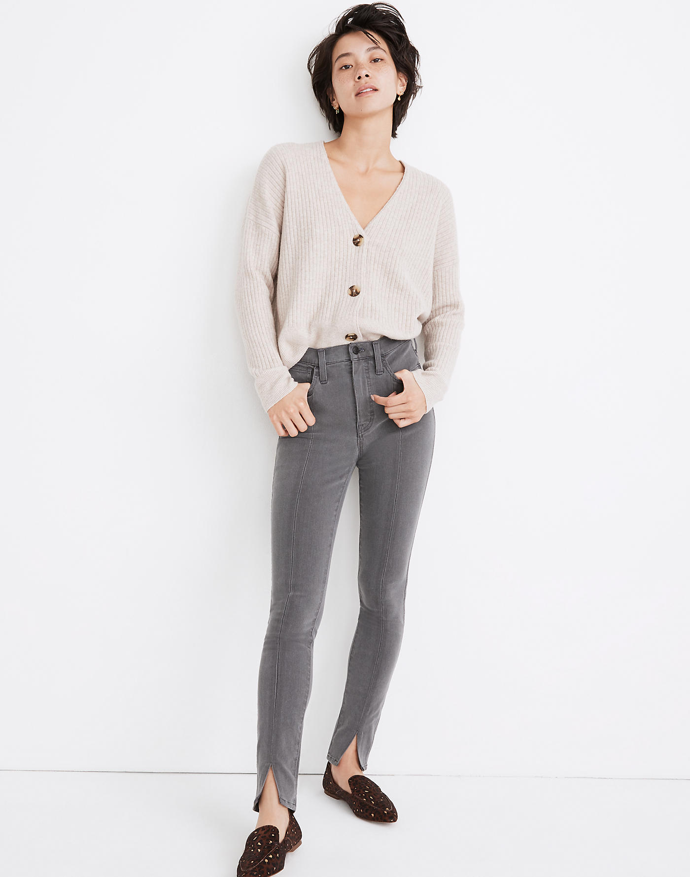 Madewell 10 High-Rise Roadtripper Jeans in Carlin Wash: Slit-Front Edition