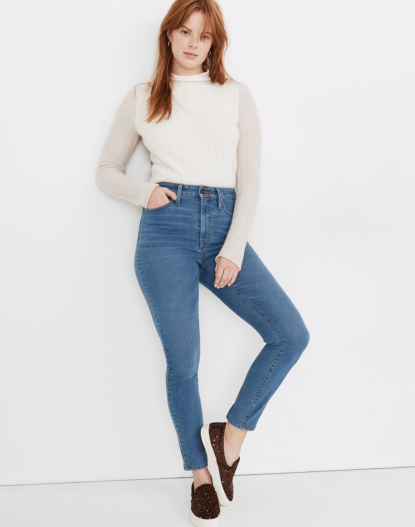 Madewell Curvy High-Rise Skinny Jeans in Astoria Wash: TENCEL Denim Edition