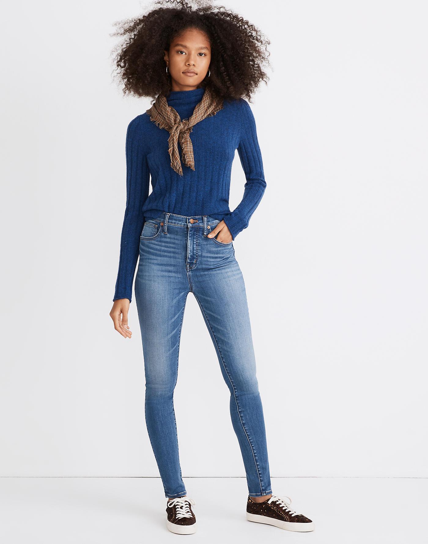 Madewell 11 High-Rise Skinny Jeans in Layne Wash: TENCEL Denim Edition