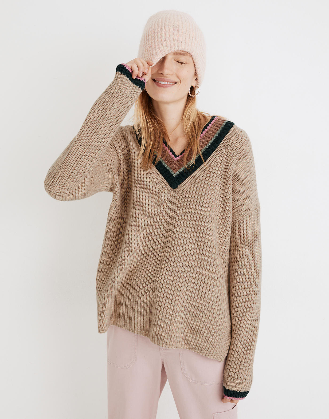 Madewell Tipped Forrest V-Neck Sweater