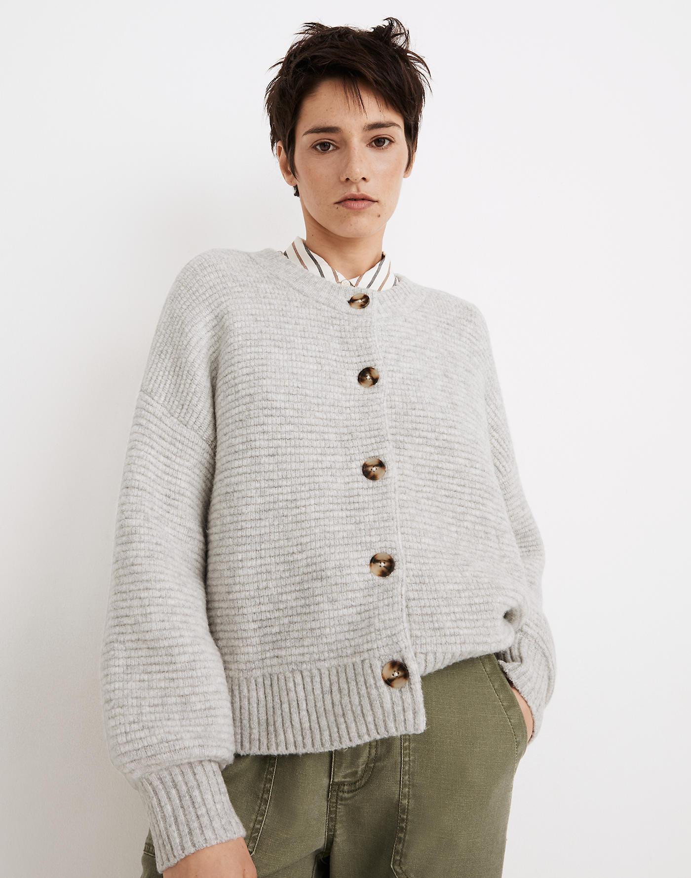 Madewell Springview Cardigan Sweater in Coziest Yarn