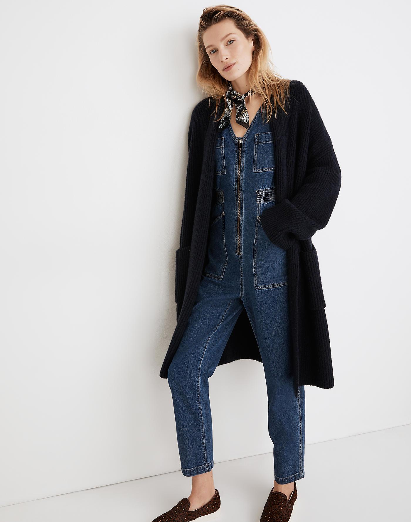Madewell Marion Sweater-Coat in Coziest Yarn