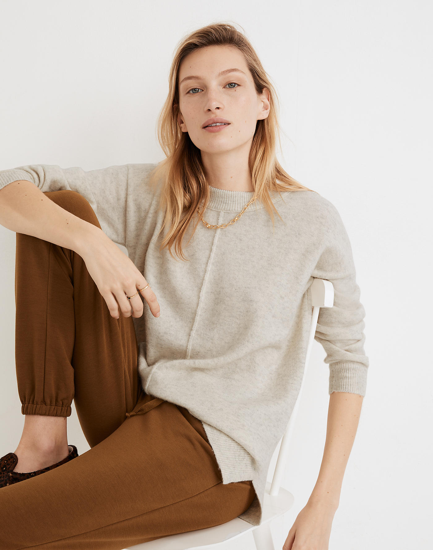 Madewell Smithe Pullover Sweater in Coziest Yarn