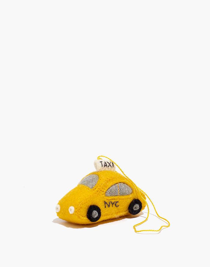 Madewell Craftspring Felt NYC Taxi Ornament