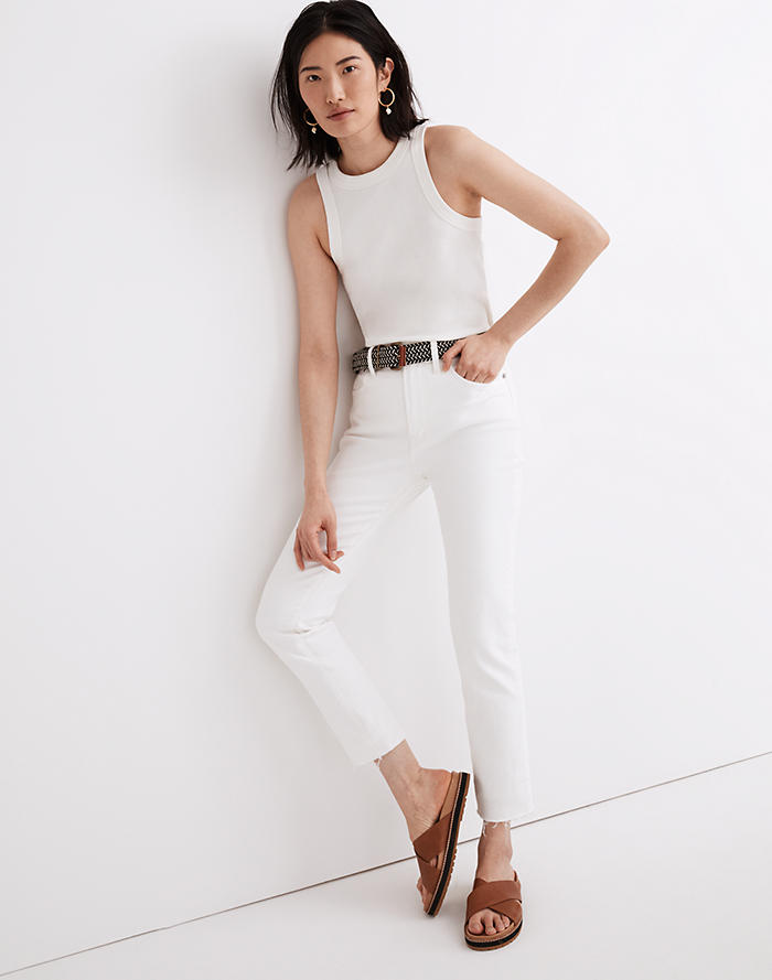 Madewell The Perfect Vintage Jean in Tile White