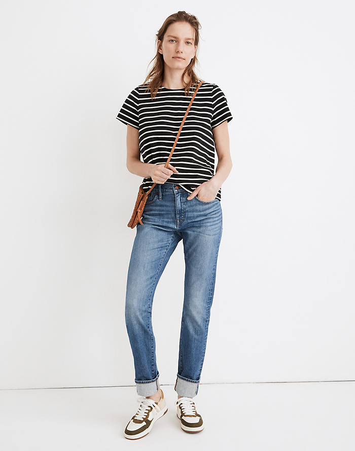 Madewell Tomboy Straight Jeans in Galewood Wash: Selvedge Edition