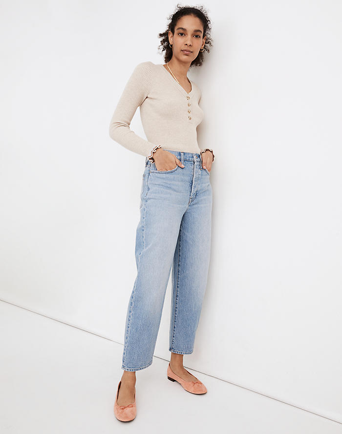 Madewell Balloon Jeans in Hewes Wash