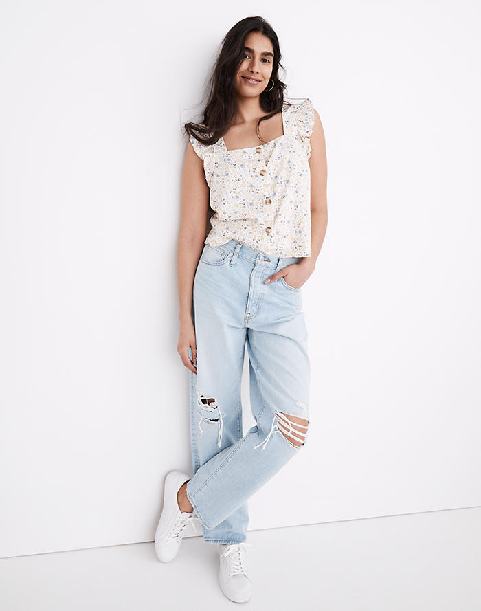 Madewell The Dadjean in Greenvale Wash: Ripped Edition
