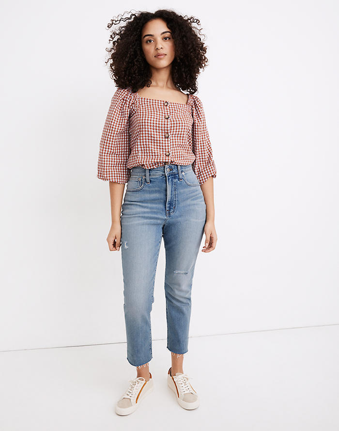 Madewell The Curvy Perfect Vintage Jean in Coffey Wash: Worn-In Edition