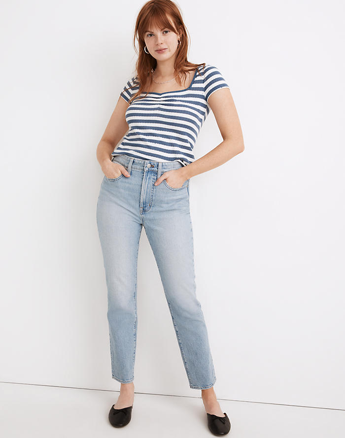 Madewell The Curvy Perfect Vintage Jean in Fiore Wash
