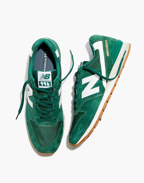 New Balance® Leather 996 Sneakers in Forest Green