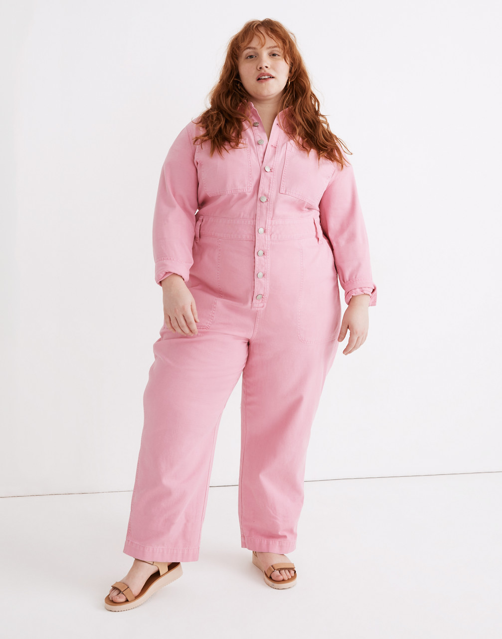 70s Jumpsuit   Disco Jumpsuits, Sequin Rompers Garment-Dyed Relaxed Coverall Jumpsuit $148.00 AT vintagedancer.com
