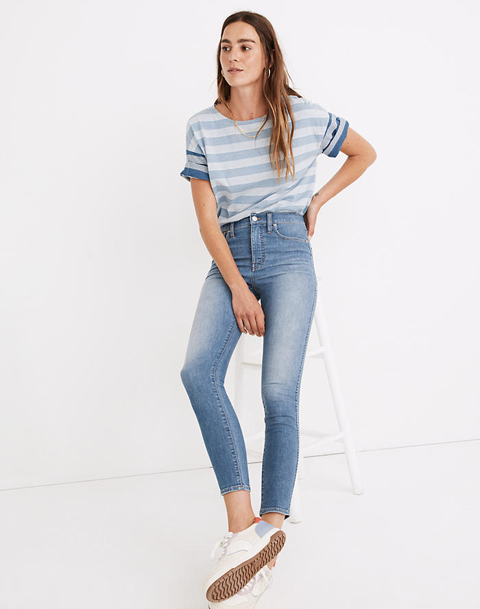 Madewell 10 High-Rise Skinny Crop Jeans in Welling Wash: Summerweight Edition