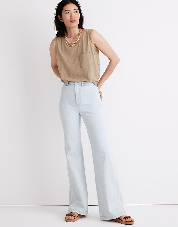 Madewell 11 High-Rise Flare Jeans in Hanford Wash: Welt Pocket Edition