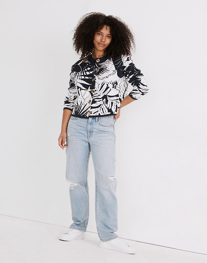 Madewell Relaxed Jeans in Cresthaven Wash: Ripped Edition