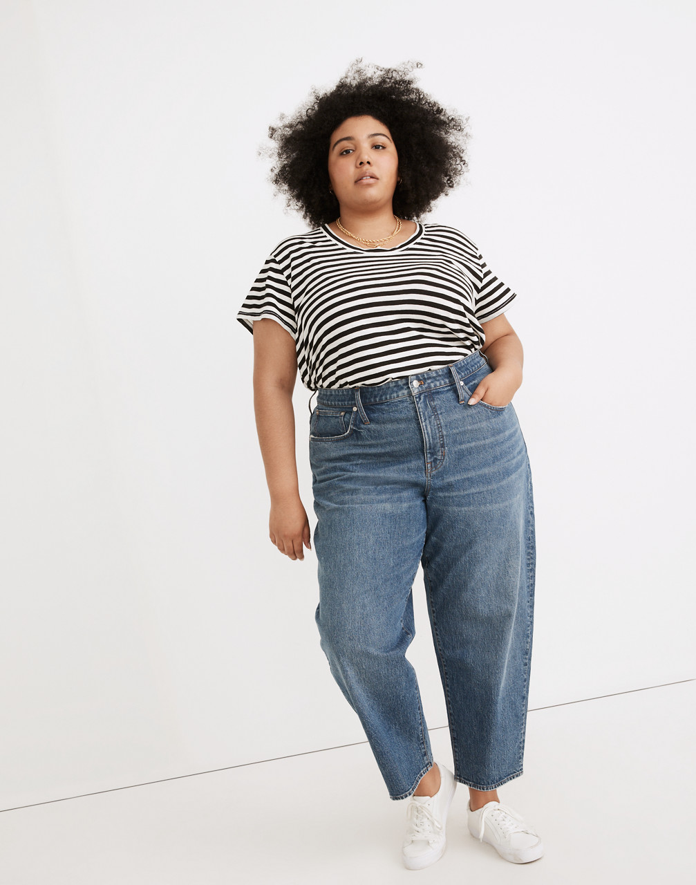 80s Fashion— What Women Wore in the 1980s Plus Balloon Jeans in Corson Wash $128.00 AT vintagedancer.com