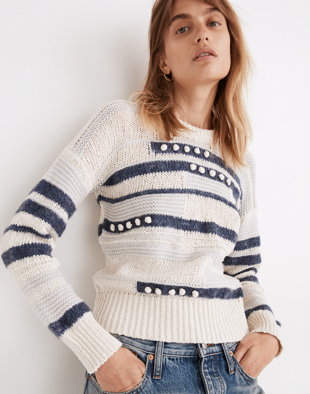 80s Fashion— What Women Wore in the 1980s Grandover Bobble Pullover Sweater $98.00 AT vintagedancer.com