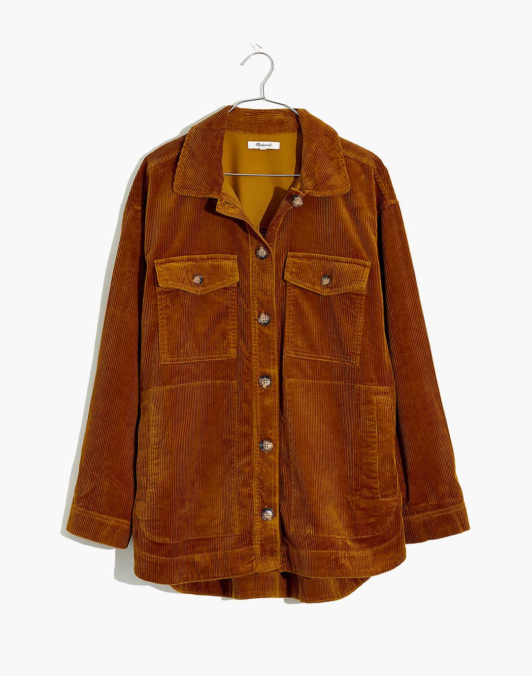 Corduroy Yorkway Shirt-Jacket in antique gold image 4